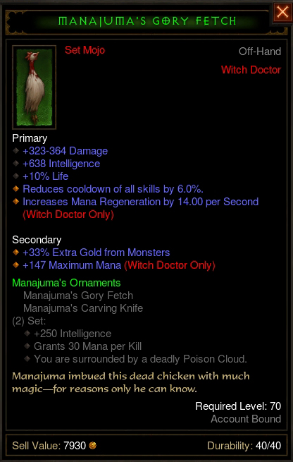 Diablo  Crafting Spears